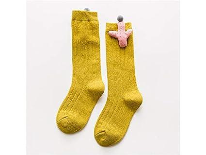 Medias para niños pequeños Calcetines de algodón para niños Calcetines de tubo mediados de primavera para