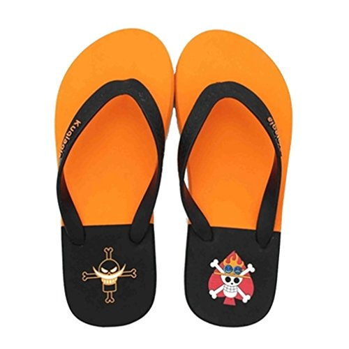 Bromeo One Piece Anime Unisex Flip Flops Chanclas 40