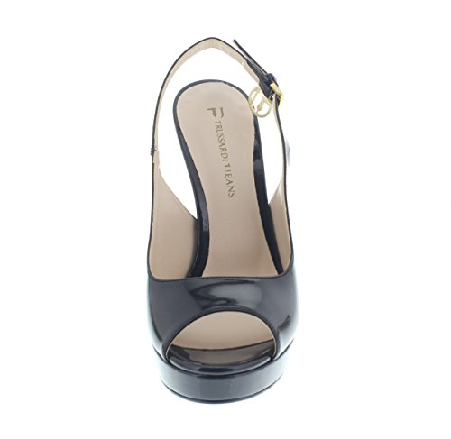 negro Trussardi Mujer Vestir de Trussardi Jeans Zapatos para 087qwAan