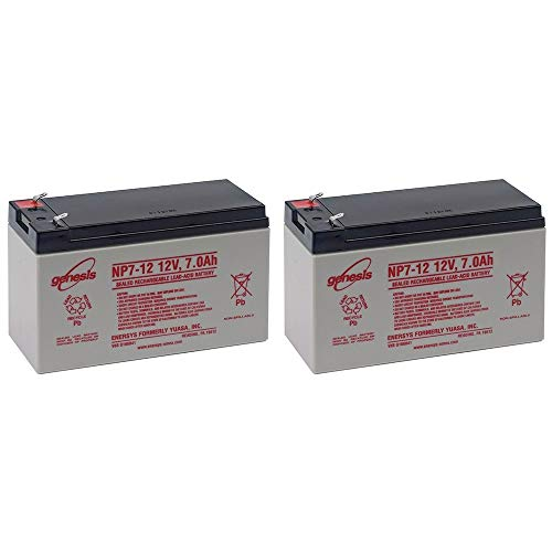 EnerSys Genesis NP7-12 12V 7Ah Sealed Lead Acid Battery (2 Pack)