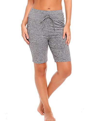 Goldenfox Ladies Active Board Shorts Stretchy Above Knee Length Boyshort (Dark Grey,XL) (Above Womens Board)