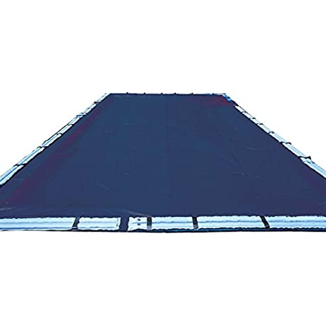 10 Year 20 X 40 Ft Rectangle Pool Winter Cover With Right Step Section
