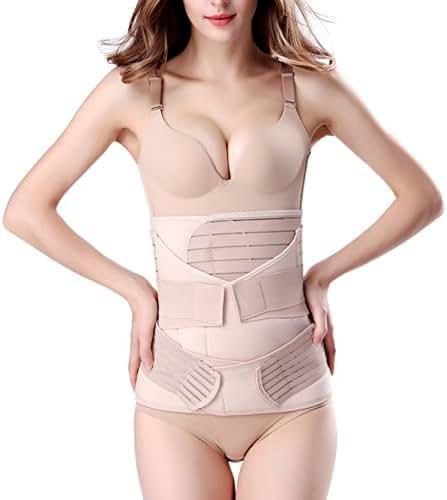 ChongErfei 3 in 1 Postpartum Support Recovery Belly Wrap Waist/Pelvis Belt Body Shaper Postnatal Shapewear