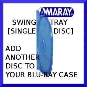 10x Amaray–Caja para 1disco Blu-Ray bandeja sólo en embalaje de la marca de Comercio de dragón