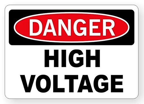 Danger High Voltage Tabs - 1-Pc Excellent Popular Danger High Voltage Stickers Radius Corners Vinyl Decal Self-Adhesive Size 3.5