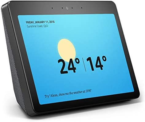 """Echo Show (2nd gen) - Premium sound and a vibrant 10"""" HD screen – Charcoal  Fabric"""