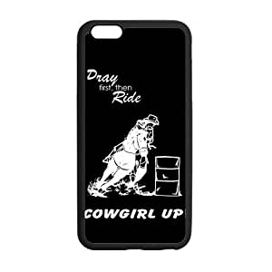 Canting_Good Barrel Racing Cowgirl Custom Case Shell Skin for iPhone6 Plus 5.5 (Laser Technology)