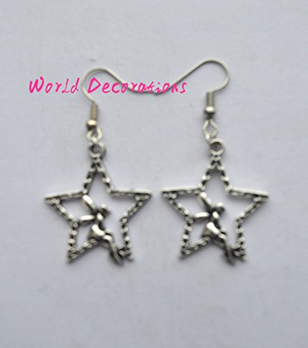 Simple Angel Earrings Silver Color Dangle Earrings,Guardian Angel , Silver Earrings , Dangling Earrings , Handmade Jewelry , Handmade Jewellery (Halloween Catholic Story)