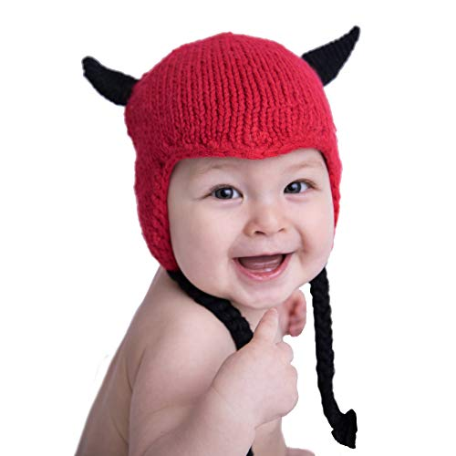 Huggalugs Baby and Toddler Boys Girls Lil' Devil Knit Beanie Hat L