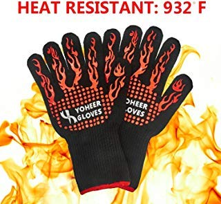 Sale!! Yoheer 932F Extra-long Cut & Heat Resistant Oven Mitts with 100% Cotton Lining Good for Oven,...
