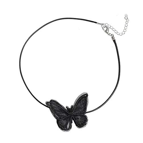 repin Simple and Short Butterfly Necklace for Women Girl Dainty Jewelry Necklace Birthday Gift R-083