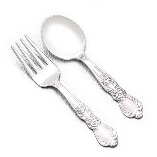 Heritage by 1847 Rogers, Silverplate Baby Spoon & Fork