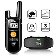 #LightningDeal Dog Shock Collar - Dog Training Collar with Remote, 3 Training Modes, Up to 1000Ft Remote Range, 0~99 Shock Levels, Beep, Vibration ,Shock, Rechargeable Remote Shock Collar for Dogs