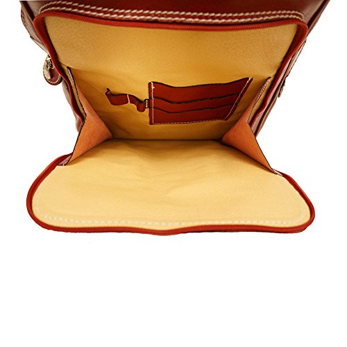 Backpack purse Red unisex flat 6538 rqPYnq4S