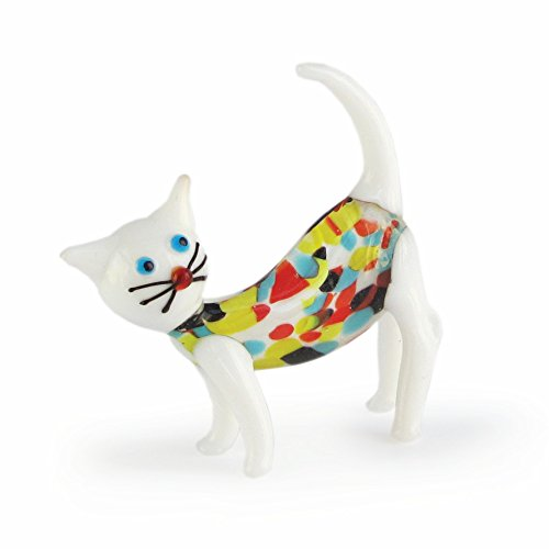 Fitz and Floyd The Jay Companies Sybil Glass Cat Figurine (Giftware Floyd)