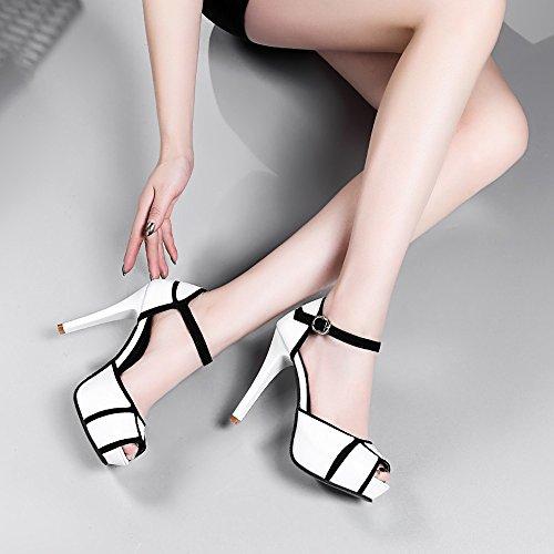 Bianco Da Tacchi Con Scarpa Sexy Size Scarpe Sottili Beikoard Donna asia G Estremamente Alti w1O0tg