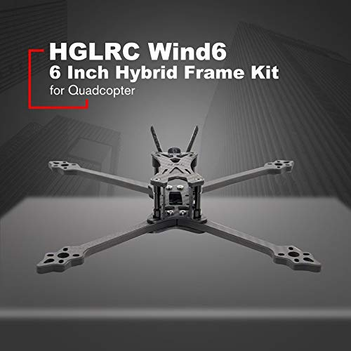 HGLRC Wind6 6 Inch Hybrid Frame Kit Arm 6mm for 6'' Propellers FPV Racing Drone by Wikiwand (Image #1)