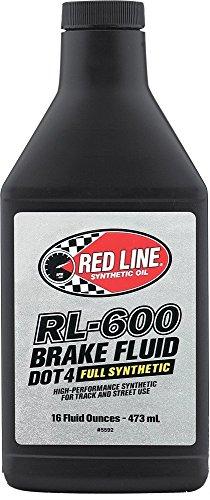 Red Line 90402-6PK Rl-600 Brake Fluid, 16 Ounce, 16 Ounces, 6 Pack ()