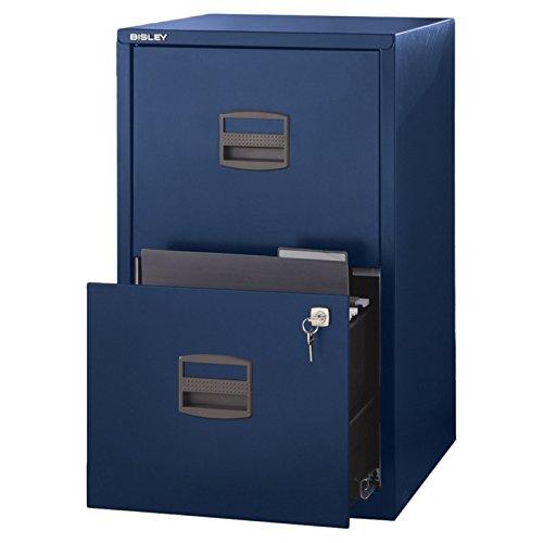Bisley Two Drawer Steel Home Filing Cabinet Orange File2
