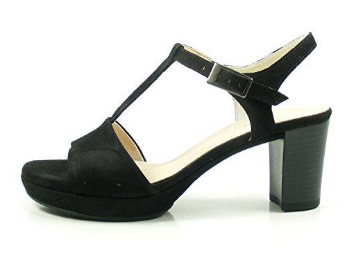 Gabor 82-391 Sandalias Fashion de Cuero Mujer Negro\r\n
