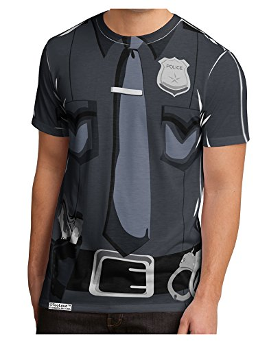 [TooLoud Police Costume AOP Men's Sub Tee Dual Sided M All Over Print] (Cute Police Costumes)