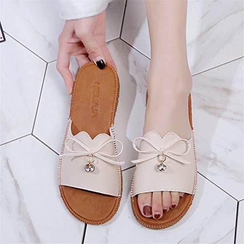 De Femme pour Plage Mi Chaussures YUCH RqZw66