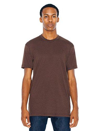 (American Apparel Men 50/50 Crewneck T-Shirt Size 2XL Brown )