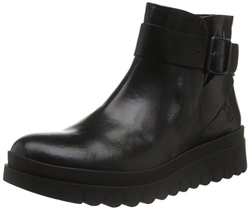 FLY London Halp773fly, Botines para Mujer Negro (Black 000)