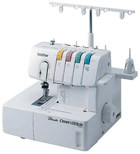 Brother 2340CV, Cover, Advanced Serger, Color-Coded Threading Guide, Dial Stitch Length, Presser Foot Pressure Adjustment, White (Renewed) (Threading Dial)