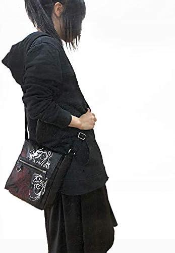[クリエーション キューブ] 和柄トライバル刺繍入り PUショルダーバッグ 8681-685
