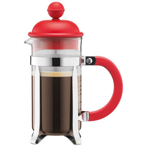 BODUM Caffettiera 3 Cup French Press Coffee Maker, Red, 0.35 l, 12 oz 1913-294