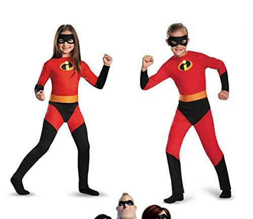 The Incredibles 2 Cosplay Kids Costume Violet Parr Dash Parr Spandex Super Hero Jumpsuit Bodysuit Boys Girls]()