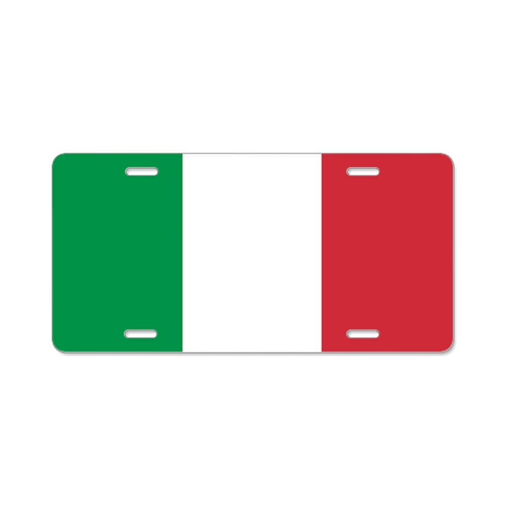 CafePress - Authentic Italy National Fl - Aluminum License Plate, Front License Plate, Vanity Tag
