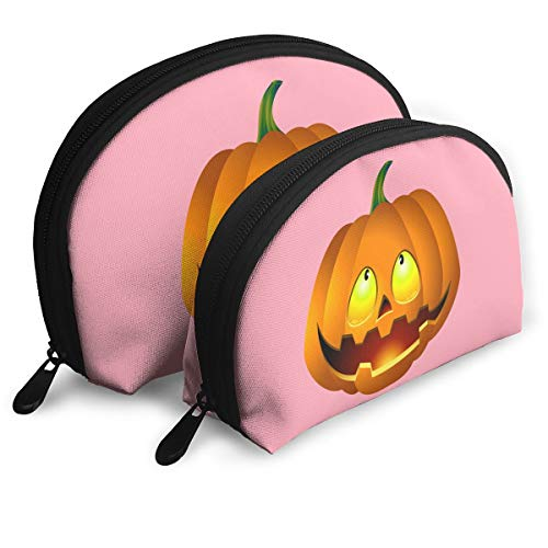 Child Goods Pumpkin Face Halloween Multi-Functional Portable Bags Clutch Pouch -