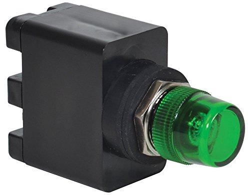 Led 16mm Lens - c3controls 16MV20-277DLW-MPLLGN Non-Relampable Multi-Voltage Pilot Light, 16mm, White LED, Green Color Lens, 20V-277V AC or DC