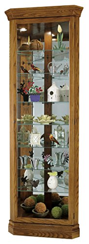Shelf Eight Cabinet Corner Curio (Howard Miller 680-485 Dominic Curio Cabinet by)