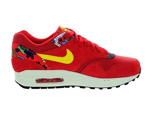 Nike Womens Air Max 1 Stampa Università Rosso / Tr Yllw / Sl / Blk Scarpa Da Corsa 8 Donne Us