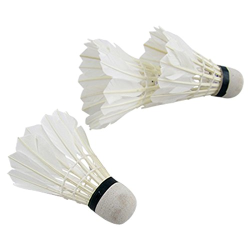 uxcell Outdoor Sports Feather Foam Badminton Shuttlecock Ball Game 3pcs White