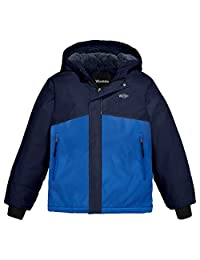Wantdo Boy's Hooded Mountain Jacket Color Block Quilted Outwear