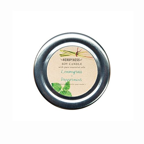 INFINITY SOY CANDLE OF HAPPINESS WITH LEMONGRASS AND PEPPERMINT AROMA SPA WEIGHT 80 GRAMS