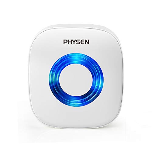 PHYSEN Wireless Doorbell Kit Self Learning Code Plug-in Door Chime w/ 52 Melodies and 4 Level Volume, Accessory:Receiver (Accessory:Receiver C-white)