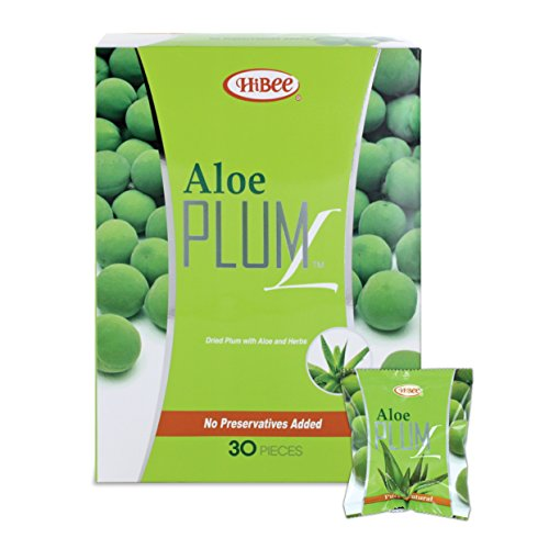 Golden Aloe (HiBee Aloe Plum L Constipation Relief - Dried Plums with Aloe & Herbs - All-Natural Laxative & Colon Detox Cleanse - Whole Food Laxative, Promotes Healthy Weight Loss & Fat Burning - Pack of 30)