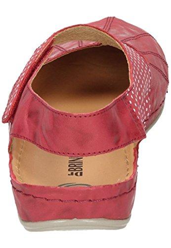 Brinkmann Marcire Dr Womens 710845 Brinkmann Ballet Donne 845 710 Rot Flats Dr Ballerine U1Ug5
