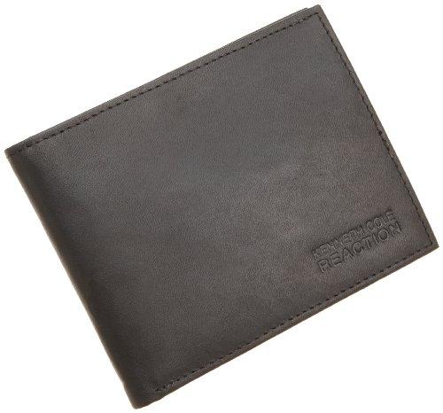 Kenneth Cole REACTION Men's Passcase Wallet,Black,One (Kenneth Cole Bi Fold Wallet)