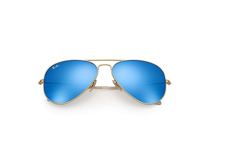 74cfaf0056963 Ray-Ban Aviator Flash Lenses - oro-lenti Blue Flash- RB3025 112 17 58 - 14   Amazon.co.uk  Sports   Outdoors