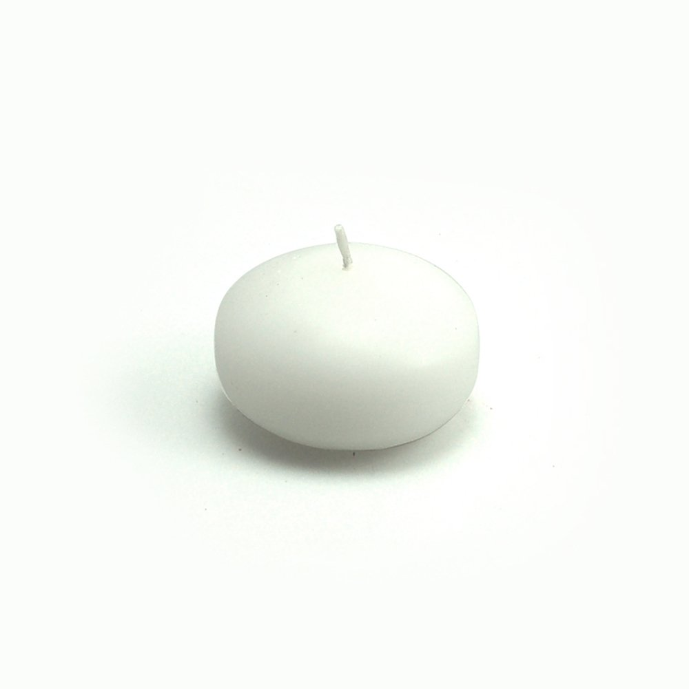 Zest Candle CFZ-001_12 288-Piece Floating Candle, 1.75'', White by Zest Candle
