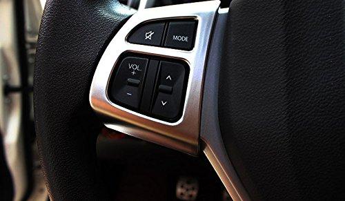Matte Cornici dei Interno Volante Plastica ABS 2 pezzi per Seconda serie SX4 S-Cross 2014-2019