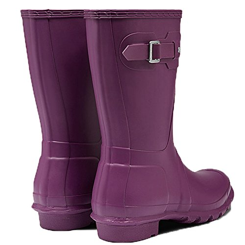 Hunter Womens Original Short Violet Rubber Boots 9 US by Hunter (Image #3)