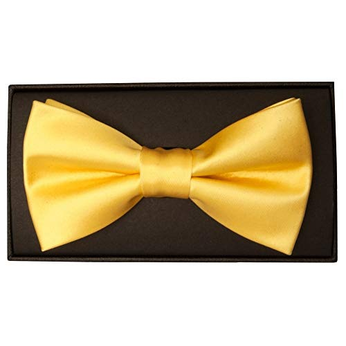 Tie TiesRUs Hand Mens Gold Made Bow nOxPqzFg4