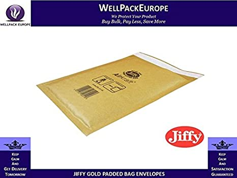 50 x **MULTI SIZES** STRONG JIFFY AIRKRAFT A4 PADDED ENVELOPES BAGS - **CHOOSE YOUR SIZE INSIDE THIS LISTING** - *** NEXT DAY UK DELIVERY *** VISIT Our Exciting  Packaging Catalogue - Search > Wellpack Europe < (JL5 (260MM x 345MM))